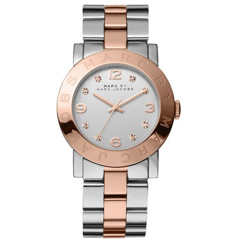 Marc Jacobs Women's 'Amy' Crystal-accented Watch - Silver