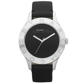 Marc Jacobs Women's MBM1205  Blade Black Leather Watch