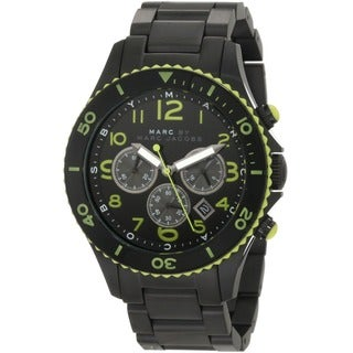 Marc Jacobs Women's 'Black Rock' Ion-plated Stainless Steel Chronograph Watch