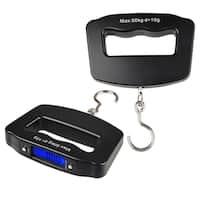 INSTEN 10g-50kg Black Digital Hanging Luggage LED Fishing Scale