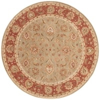 Della Handmade Floral Taupe/ Red Area Rug (10' X 10')