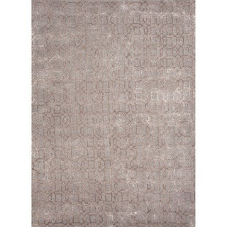 Hand-tufted Transitional Tone-on-Tone Pattern Blue Rug (2' x 3')