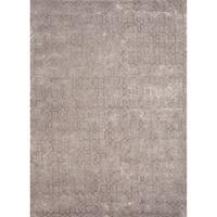 Foster Handmade Geometric Gray/ Tan Area Rug (5' X 8')
