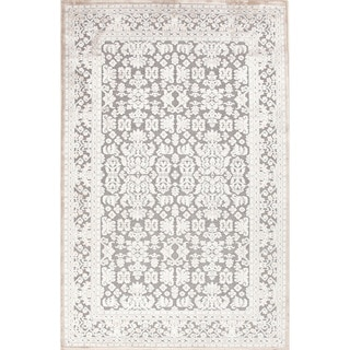 Transitional Oriental Pattern Grey Rug (7'6 x 9'6)