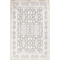 Maison Rouge Antonin Damask Grey/ White Area Rug - 7'6 x 9'6