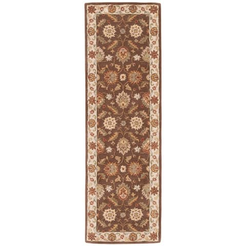 Lucina Handmade Floral Brown/ Gold Area Rug