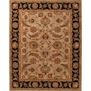 Hand-tufted Traditional Oriental Pattern Brown Rug (2' x 3')