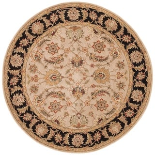 Safavieh Handmade Blossom Paisley Beige Wool Rug 8