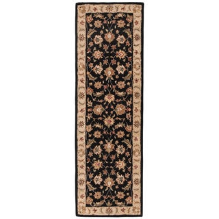 Hand-tufted Traditional Oriental Gray/ Black Rug (4u0027 x ...