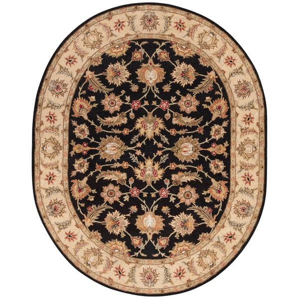 Shop Skylar Handmade Floral Black/ Beige Area Rug (8' X 10