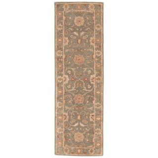 "Easton Handmade Floral Multicolor Area Rug (2'6"" X 8')"