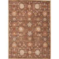 Savani Handmade Floral Brown/ Multicolor Area Rug - 2' x 3'