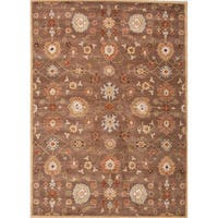 Savani Handmade Floral Brown/ Multicolor Area Rug - 3'6 x 5'6