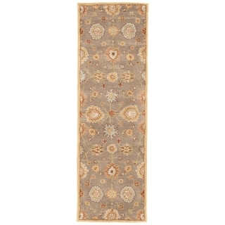 "Savani Handmade Floral Brown/ Multicolor Area Rug (2'6"" X 12')"