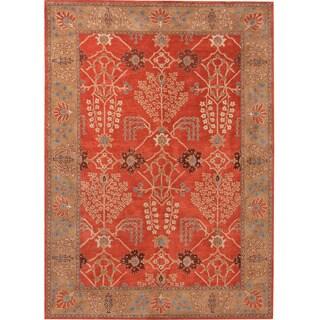 Hand-tufted Transitional Oriental Pattern Red/ Orange Rug (2' x 3')