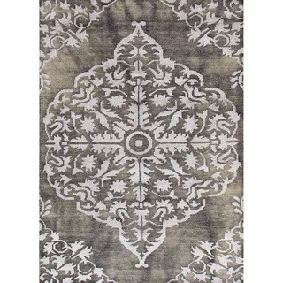 Jaipur Living Hand-Knotted Heritage Charcoal Medallion Rug (8' x 11')