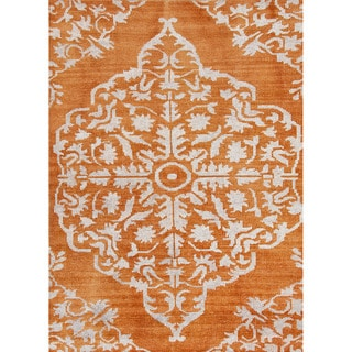 Jaipur Living Hand-Knotted Heritage Orange Medallion Rug (2' x 3')