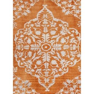 Jaipur Living Hand-Knotted Heritage Orange Medallion Rug (8' x 11')