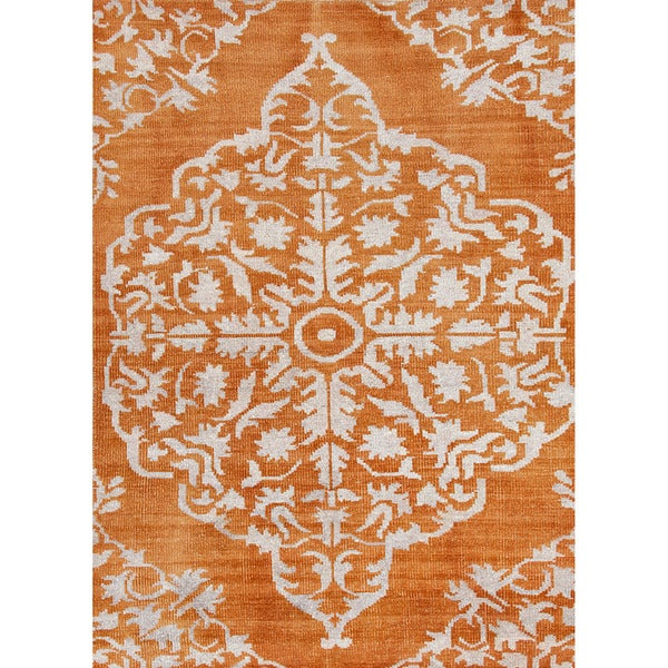 Jaipur Living Hand-Knotted Heritage Orange Medallion Rug (8' x 11')