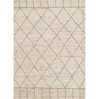 Hand-Knotted Tribal White Area Rug (2' X 3') - 2' x 3'