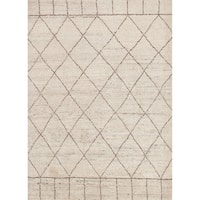 "Hand-Knotted Tribal White Area Rug (8' X 10') - 7'10""x9'10"""