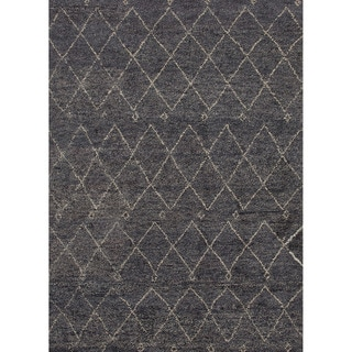 Jaipur Living Hand-Knotted Nostalgia Steel Moroccan Rug (2' x 3')