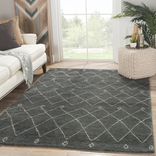 Hand-Knotted Tribal Blue Area Rug (5' X 8') - 5' x 8'