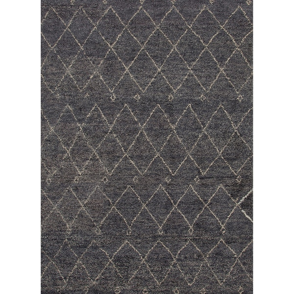 Hand Knotted Tribal Blue Area Rug 8 X 10 Free