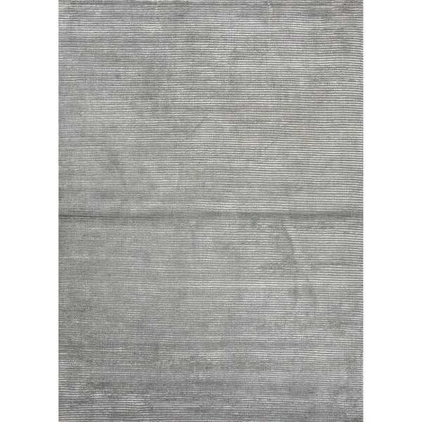 Phase Handmade Solid Gray/ Silver Area Rug - 2' x 3'