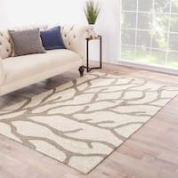 Havenside Home Nantucket Indoor/ Outdoor Abstract White/ Grey Area Rug (2' x 3')
