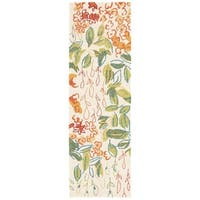 "Mariager Indoor/ Outdoor Floral Multicolor/ White Area Rug - 2'6"" x 8'"