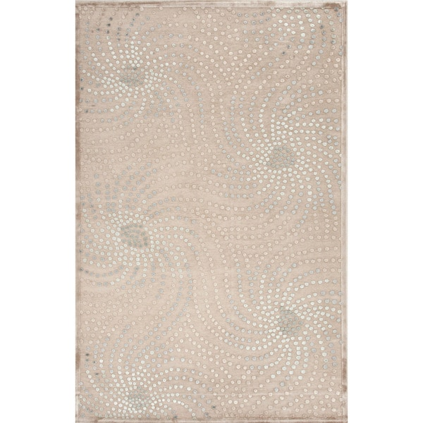 Shop Transitional Abstract Pattern Blue Rug 5 X 7 6