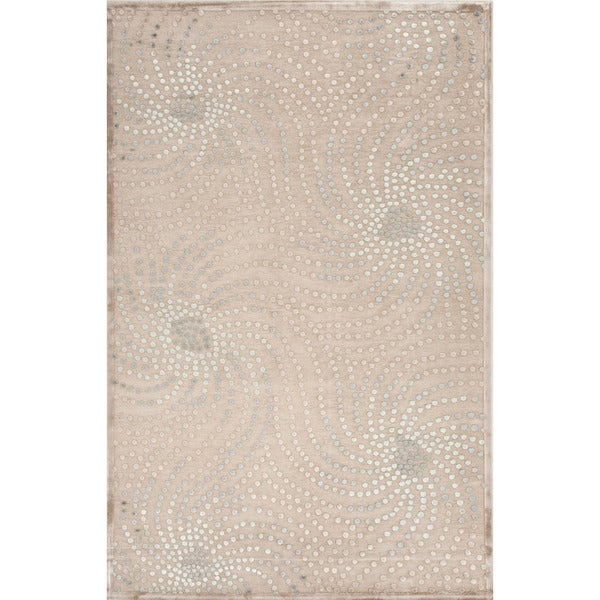 Transitional Abstract Pattern Blue Rug (7'6 x 9'6)