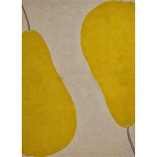 Hand-hooked Indoor/ Outdoor Abstract Pattern Green Rug (5' x 7'6)