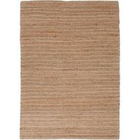 Solis Natural Solid Tan/ White Area Rug - 3'6 x 5'6