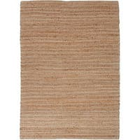 Solis Natural Solid Tan/ White Area Rug - 5' x 8'