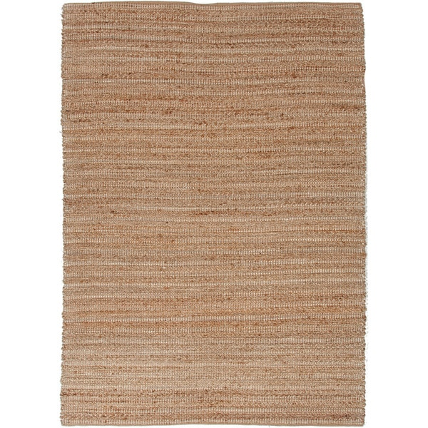 Solis Natural Solid Tan/ White Area Rug (5' x 8') - 5' x 8'