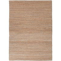 "Solis Natural Solid Beige/ Blue Area Rug (3'6"" x 5'6"") - 3'6 x 5'6"