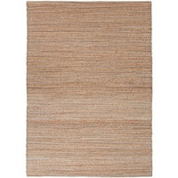 Solis Natural Solid Beige/ Blue Area Rug - 3'6 x 5'6