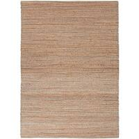 Solis Natural Solid Beige/ Blue Area Rug (8' x 10')