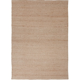 Handmade Naturals Solid Pattern Casual Brown Rug (3'6 x 5'6)