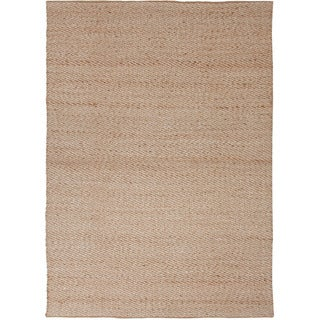 Handmade Naturals Solid-pattern Brown Jute/ Rayon Rug (2'6' x 4')