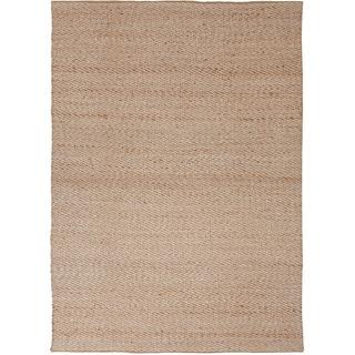Handmade Textured Naturals Solid Pattern Brown Rug (5' x 8')