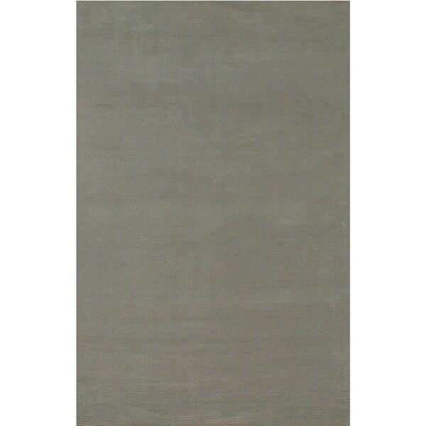 Minke Handmade Solid Gray/ Silver Area Rug (5' X 8')