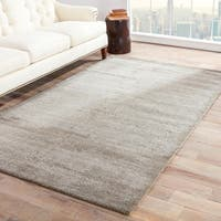 Minke Handmade Solid Gray/ Silver Area Rug (8' X 10') - 8' x 10'