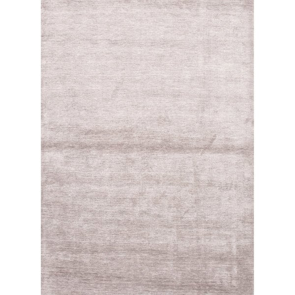 Aurora Handmade Solid Light Gray Area Rug (5' X 8')