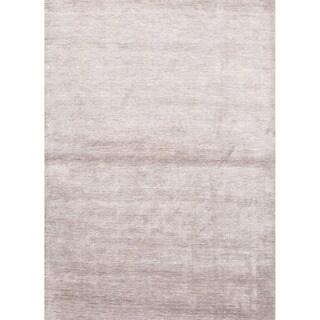 Aurora Handmade Solid Light Gray Area Rug (8' X 10') - 8' x 10'