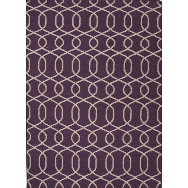Handmade Flat Weave Moroccan Pink/ Purple Rug (3'6 x 5'6)