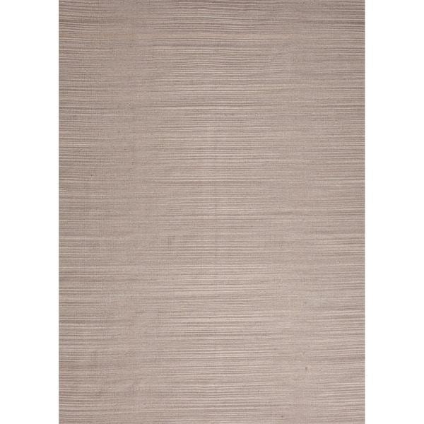 Handmade Flat Weave Solid Pattern Gray/ Black Rug (4' x 6')