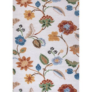Hand-tufted Transitional Floral Pattern Ivory Rug (2' x 3')
